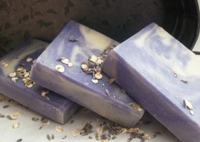 Lavender & Oatmeal Handcrafted Soap