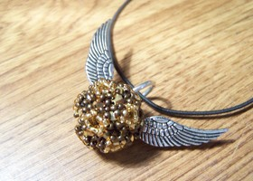 Golden Snitch pendant necklace handmade