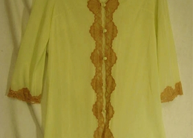 Emilio Pucci Formfit Rogers Light Green Lace Robe