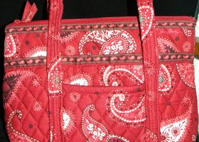 Vera Bradley Mesa Red Tote and Wallet