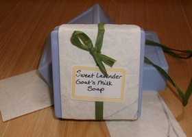 Sweet Lavender Goat's Milk Soap 4 oz. Bar - 10% Milk