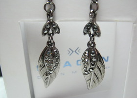 Glittzy Black Marcasite & Swarovski Crystal  Earrings