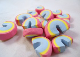 15 Polymer Clay Rainbows - Lucky Charms.