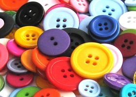 Buttons - 200 Assorted Mix