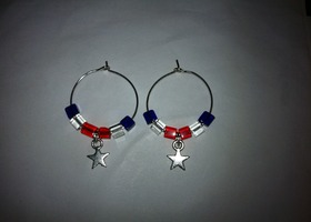 Red, White and Blue Hoops