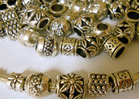 25 Tibetan Silver Pandora Inspired Bead Spacers
