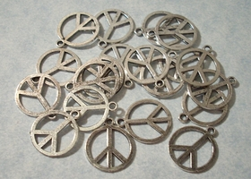 50 Peace Sign Charms