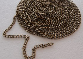 12ft Twist Chain 4x6mm Antique Bronze or Silver