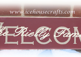 Welcome Family Name Overlay Wood Sign