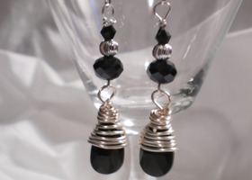 """Sheik"" Handmade & Wire Wrapped Earrings"