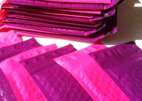 15+ Pack 4x7 in Hot Pink & Electric Purple Bubble Maile