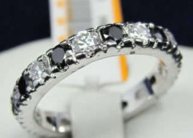 black sapphire 10KT Gold Filled Ring Size 8
