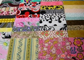 "80~4""X4"" Quilting Fabric Squares 100% Cotton"