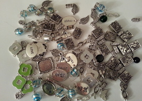 Variety of Beads, Charms, and More
