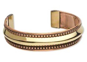 Genuine Copper and Brass Cuff Bracelet