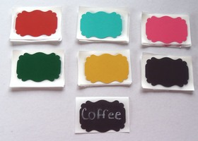 New 36 Adhesive Sticker Chalkboard Labels~Bright's