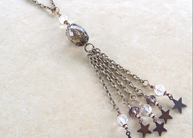 Long Tassel Star Necklace Handmade