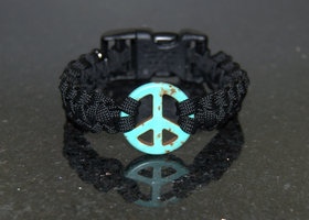 Peace Sign Paracord Bracelet