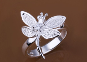 Sz 9, 8, 7 Gorgeous 925 Silver Dragonfly Rings
