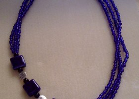Handmade Cobalt Necklace.  High Fashion and inline with Spring 2012 Trends Bonus Offer!! will ship to canada