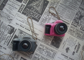 2 Camera Charms/Key Chains