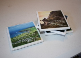 Irish Blessing Coaster Set