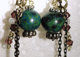 Bead & Chain ear bling