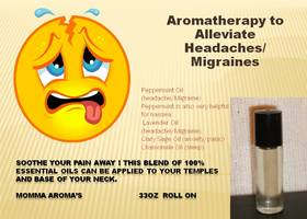 Aromatherapy for Headache/Migraines Roll-on Glass Bottl