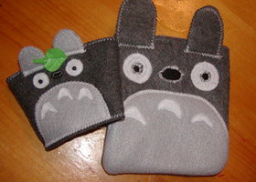 My Neighbor Totoro Inspired Felt Case and Cozy