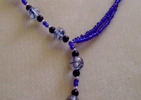 Beautiful Offset Glass Multistrand Necklace. BONUS OFFER!!!!