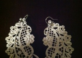 Silver Filigree Paisley Earrings