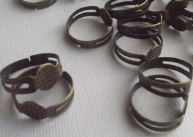 Bronze Adjustable Ring Blanks