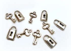 Locks & Keys Charm Lot