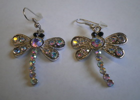 Shimmering Dragonfly Earrings