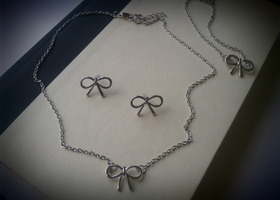 Three Piece Bow Jewellery Set