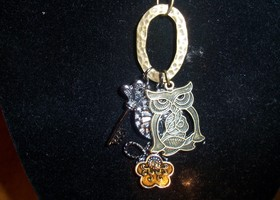 Antique Owl Charm Necklace