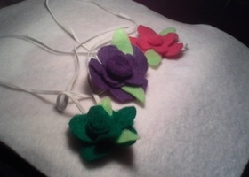 Set of 3 flower headbands