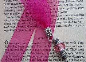 Bookmark, Ribbon, Bead & Charm