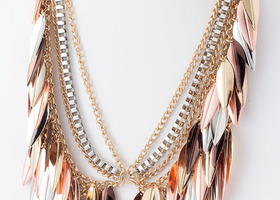 Copper Leaft Statement Necklace
