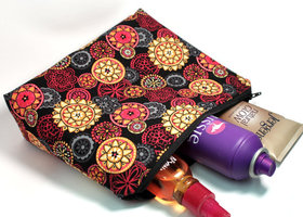 Fabuloso in Red/Orange Large Cosmetic Bag
