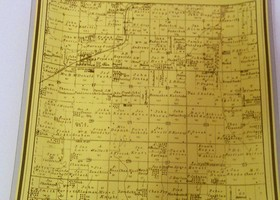 Glass map of Richland, Kansas (Limited Edition 4-100)