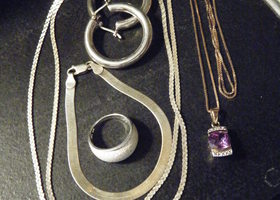 5 pc lot of fine sterling silver jewelry