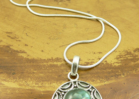 Lovely Laboradite Sterling Silver Necklace