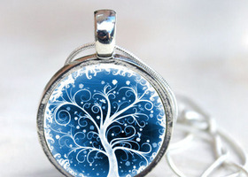 Swirl Trees - Interchangeable Magnetic Necklace