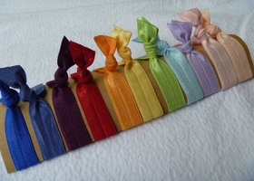 Hair Ties - Rainbow Assortment (11 ties)