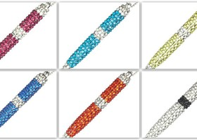 Rhinestone Bead Pen Necklace
