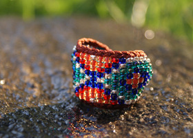 Stunning Boho Bead Ring Band