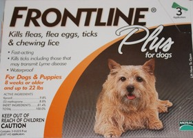 Frontline Plus 3 pk for dogs up to 22 lbs lbs