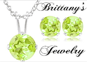 Genuine Peridot Necklace & Earring Set
