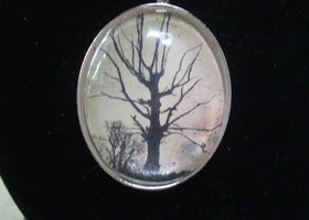 Haunted Halloween Tree Necklace
